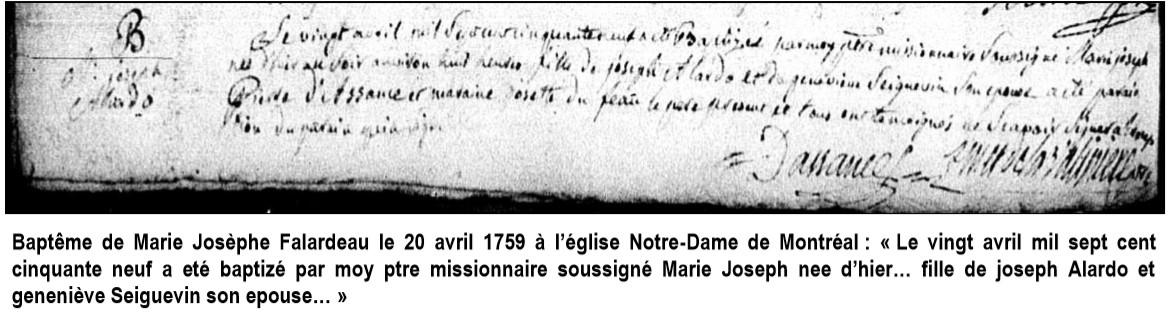 Marie Josèphe Falardeau